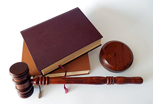 Hammer and books - Law