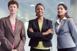 Three office women featured